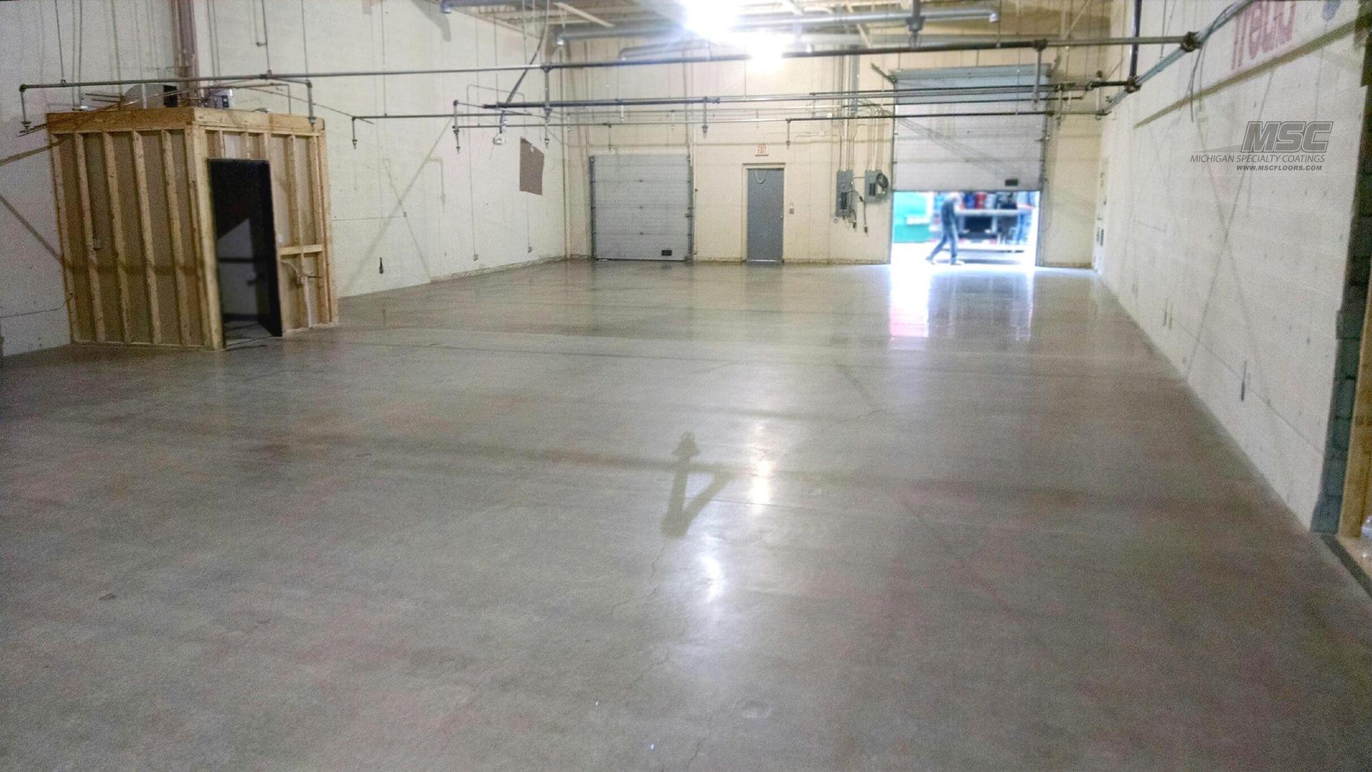 polished concrete – restaurant warehouse – michigan – michigan