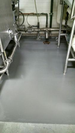Urethane Mortar with Protecctive Topcoat
