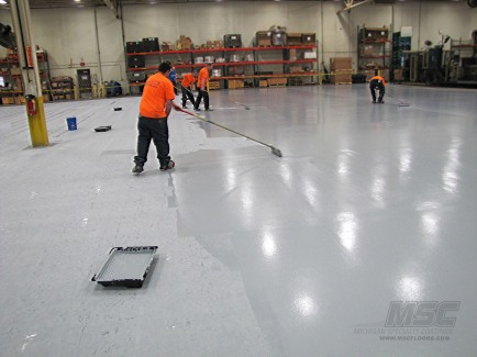 Urethane Topcoat floor coating application