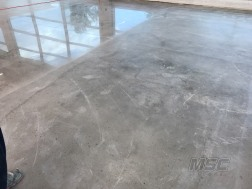 Before and After Polish Concrete Flooring installation process in Michigan